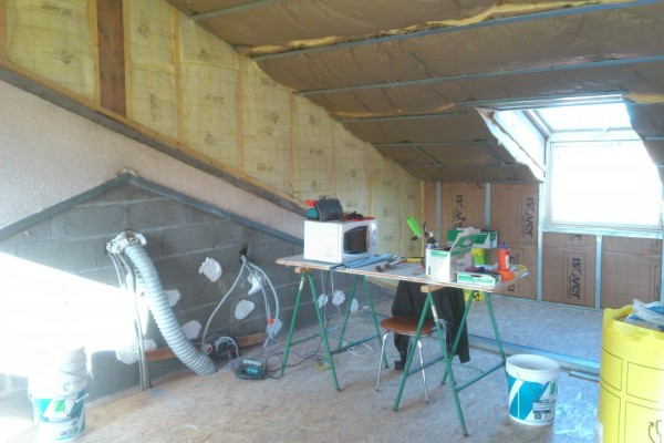 rénovation intérieure combles pendant- solution travaux rénovation